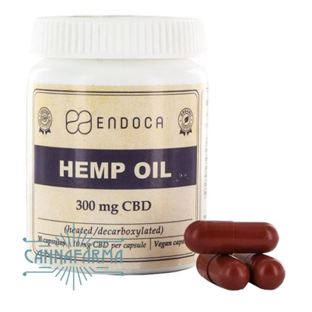 Cápsulas comestibles con CBD Endoca