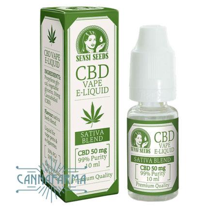 e-liquido de CBD 50 mg. sensi seeds