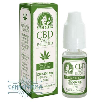 e-liquido de CBD 200 mg. Sensi Seeds