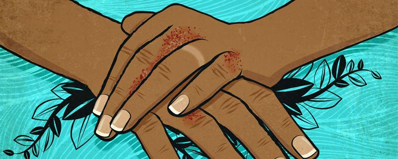 dibujo de manos frotandose