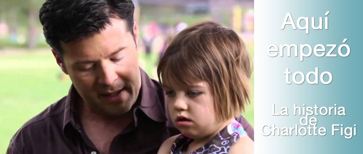 Foto de Charlotte Figi y su padre